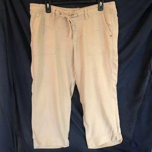 Sonoma Women Khaki Drawstring Capri Pants Size 12